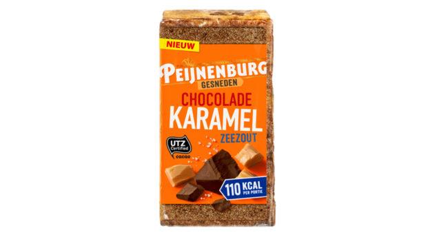 Ontbijtkoek Chocolade Karamel Zeezout 320g gesneden Peijnenburg peperkoek