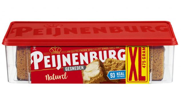 Ontbijtkoek Naturel Bewaarverpakking Gesneden Peperkoek Peijnenburg 475g