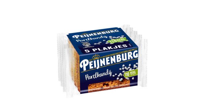 Ontbijtkoek Parelkandij 5-pack Peijnenburg Peperkoek los verpakt tussendoortje