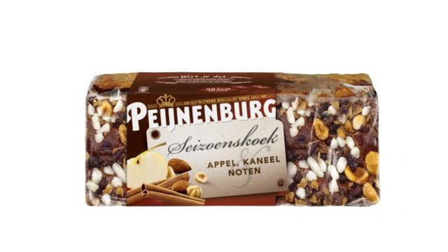 Ontbijtkoek Seizoenskoek Appel Kaneel Noten ongesneden 460g Peijnenburg Peperkoek