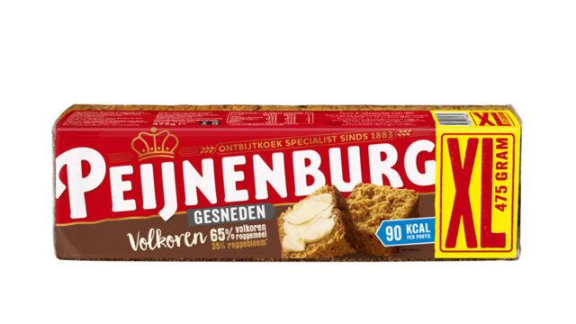 Ontbijtkoek Volkoren Gesneden 475g Peijnenburg Peperkoek vezels