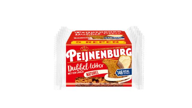 Peijnenburg naturel dubbel lekker ontbijtkoek meeneemverpakking 5-pack